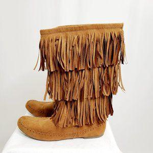 Moccasin Fringe Boots